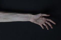 Mani sottili della morte Immagine Stock