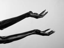 Mani sottili nere della morte Royalty Illustrazione gratis