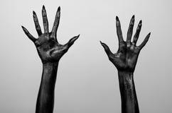Mani sottili nere della morte Illustrazione Vettoriale
