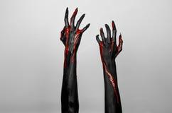 Mani sottili nere sanguinose della morte Royalty Illustrazione gratis