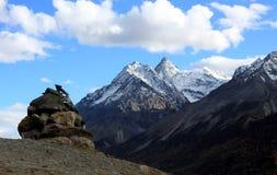 Mani stone on the mountain top Royalty Free Stock Photo