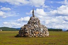 Mani stones. In the Tibet Stock Photos