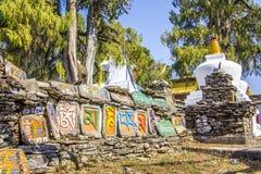 Mani stones on mani wall Royalty Free Stock Photo
