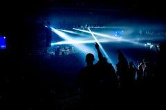 Mani su, concerto dell'anno, Novi Sad Fotografia Stock Libera da Diritti