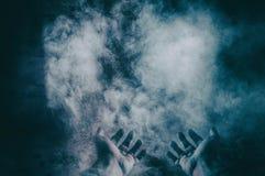 Mani su polvere Immagine Stock Libera da Diritti