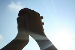 Mani sul cielo 3 Fotografia Stock Libera da Diritti