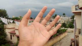 Mani sul fuoco Immagini Stock