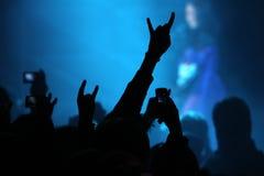 Mani sulla manifestazione di concerto Fotografia Stock