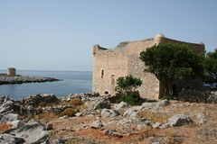 Mani tower. Beautiful greek tower at pelopponese in mani Stock Images