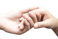 Mani umane che tengono insieme Fotografia Stock