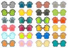 Mani variopinte messe Illustrazione di Stock