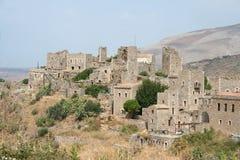 Mani village. Beautiful greek village at pelopponese in mani Royalty Free Stock Photo