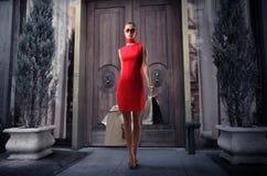 Mania da compra Fotografia de Stock Royalty Free