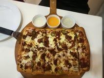 Mania della pizza immagini stock