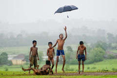 Mania di monsone Immagine Stock