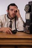 Mania furiosa del telefono Immagine Stock