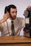Mania furiosa del telefono Fotografia Stock