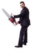 Maniac businessman Stock Photo