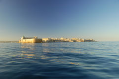 The Maniace castle from the sea Stock Images