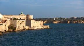 Maniace castle, Syracuse, Sicily, Italy Royalty Free Stock Image