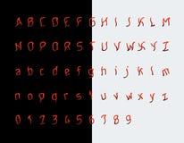 Maniacka chrzcielnica, przerażający listy i liczby royalty ilustracja