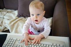 Maniaco del computer Fotografie Stock Libere da Diritti