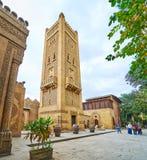 Manial宫殿清真寺,开罗,埃及摩洛哥尖塔  免版税库存照片