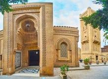 Manial宫殿清真寺,开罗,埃及门面  免版税库存图片