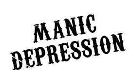 Manic Depression rubber stamp Stock Images