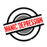 Manic Depression rubber stamp Royalty Free Stock Photo