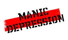 Manic Depression rubber stamp Stock Photo