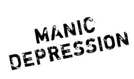 Manic Depression rubber stamp Stock Photos