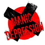 Manic Depression rubber stamp Royalty Free Stock Images