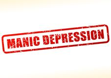 Manic depression text buffered. Illustration of manic depression text buffered on white background Stock Images