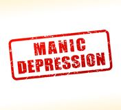 Manic depression text buffered on white background Stock Photography