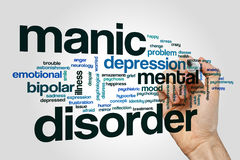 Manic disorder word cloud concept Royalty Free Stock Images