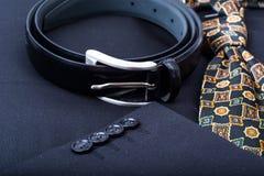 Maniche dei bottoni per il rivestimento del ` s degli uomini Fotografia Stock Libera da Diritti