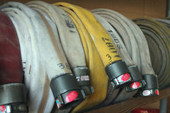 Manichette antincendio Fotografie Stock Libere da Diritti