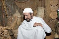 Manichino Belonger (beduino) Museo del Dubai, Emirati Arabi Uniti Fotografie Stock