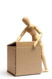 Manichino con il pacchetto Fotografie Stock