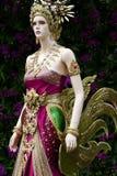 Manichino con il vestito antico tradizionale della Tailandia Fotografia Stock Libera da Diritti
