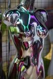 Manichino d'argento sotto forma di donna sexy Immagini Stock Libere da Diritti