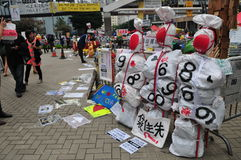 Manichino di protesta Fotografie Stock Libere da Diritti