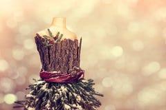 Manichino festivo di Natale Fotografia Stock Libera da Diritti