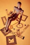 Manichino sulle etichette di RFID Fotografie Stock Libere da Diritti
