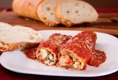 manicotti意大利面食充塞了二 库存照片