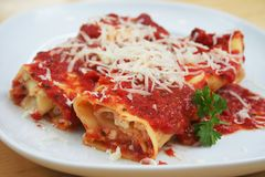 Manicotti Stockfotos