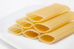 Manicotti stack royalty free stock photo
