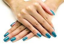 Manicura del esmalte de uñas Foto de archivo libre de regalías