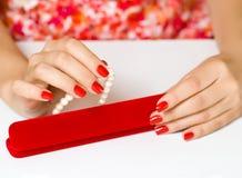 Manicure женщин стоковое фото rf